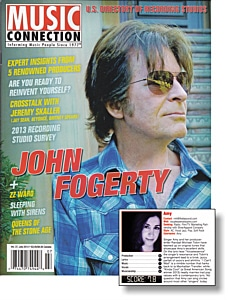 Music Connection Magazine July 2013 Cover with Amy Music Review